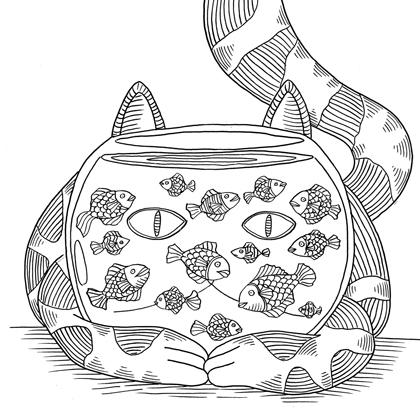 chats-a-colorier-black-and-white-cats-illustration-mesdemoiselles-aurelie-castex-et-claire-laude
