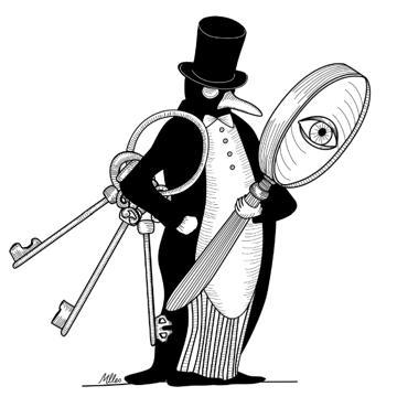 cle-privee-hotel-pingouin-et-concierge-de-luxe-dessin-aurelie-castex